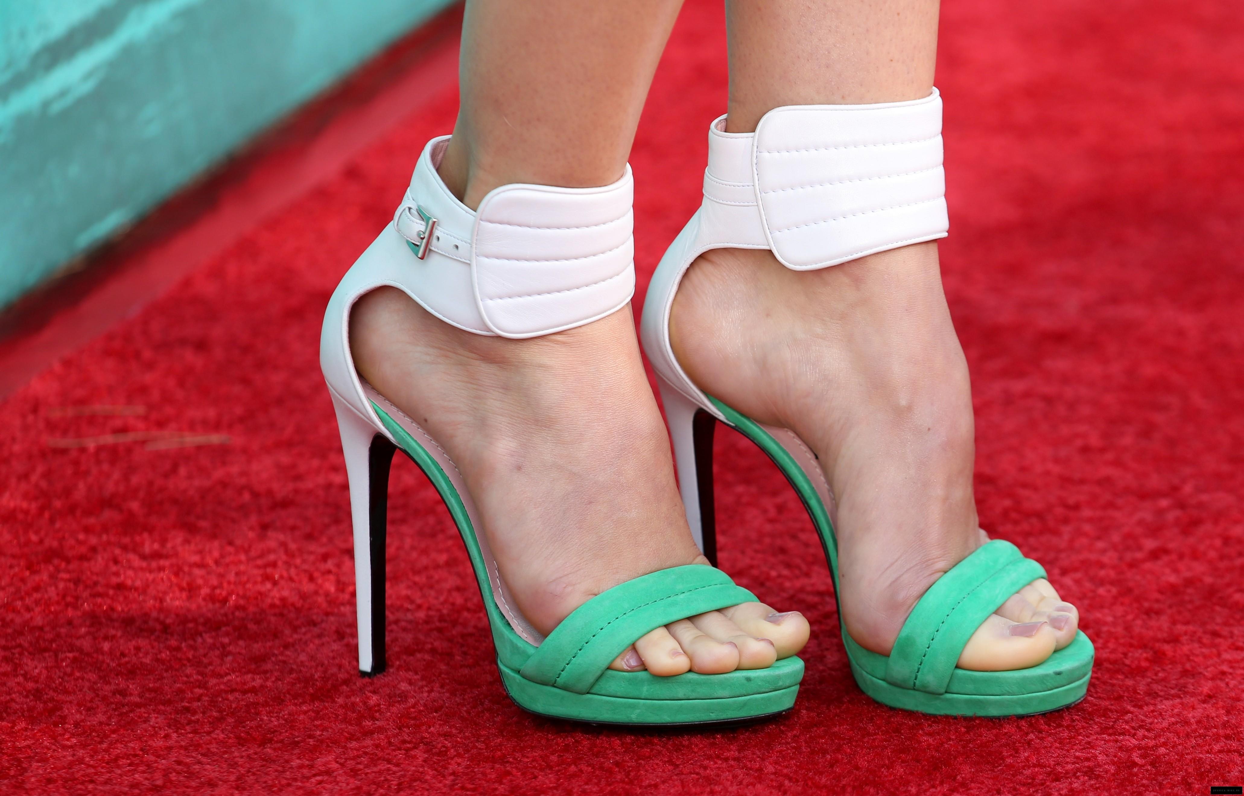 High heels and feet
